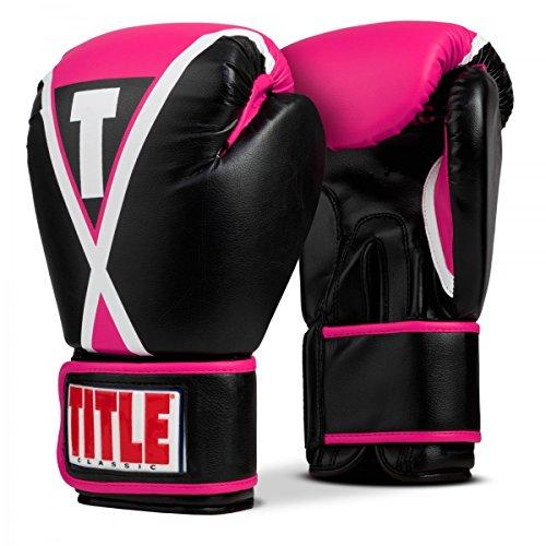 (Title Boxing Classic X-Press Boxing Gloves, Black/Pink, Regular)