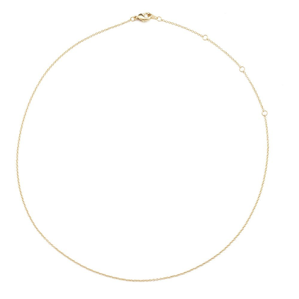 HONEYCAT Thin Chain Adjustable Choker in 24k Gold Plate (13'', 14'', 15'', 16'', 17'')   Minimalist, Delicate Jewelry (Gold)