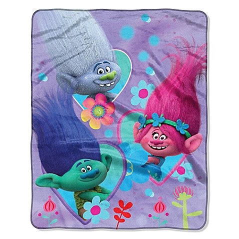Trolls Fleece Blanket For Kids