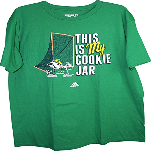 Notre Dame Fighting Irish Mascot Defending Lacrosse Goal Adult T-Shirt X-Large Fighting Irish Mascot