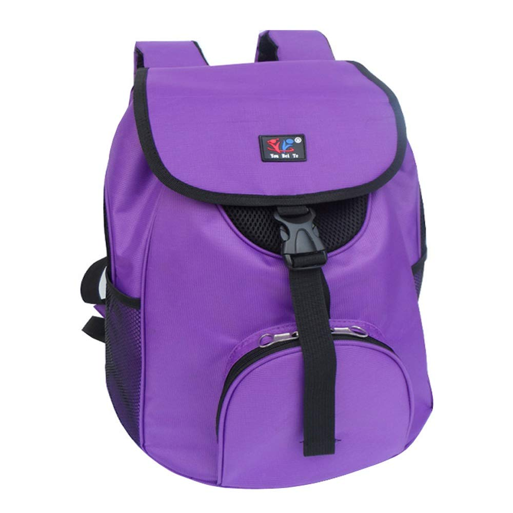 Baiyun flyin Pet supplies dog backpack out portable cat bag oxford pet backpack purple A_