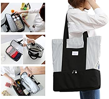 ExquisiteHome 2-in-1 Large Insulated Ladies Tote Bag