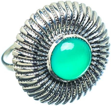 Green Onyx グリーンオニキスシルバー925リング9.25