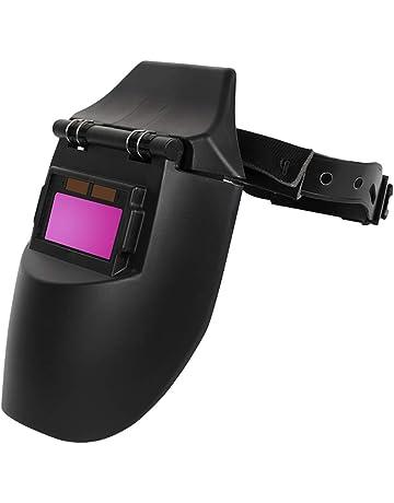 OurLeeme Casco para soldar, Solar Fotoeléctrico automático UV Máscara Protectora con Solapa Protectora Máscara soldadora