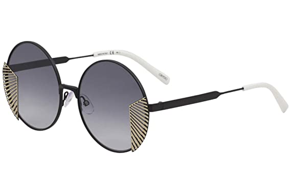 3becabb196 Amazon.com  OXYDO O.No. 2.2 003 1I Matte Black Gold Round Sunglasses ...