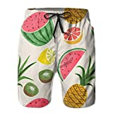 Seamless Vintage Flower Man Colorful Shorts Running Surfing Board