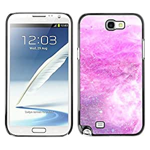 Caucho caso de Shell duro de la cubierta de accesorios de protección BY RAYDREAMMM - Samsung Galaxy Note 2 N7100 - Storm Snow Stars Abstract White