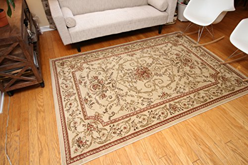 Feraghan/New City Traditional Isfahan Floral Persian Wool Area Rug, 2