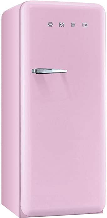 Smeg FAB28UPKR1 50s Style 9.2 Cubic Feet Pink Right-hand Refrigerator with Freezer Compartment