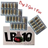 LP10 BUY 3 GET 1 FREE #1 Natural Male Enhancer & Testosterone Booster (10 Caps per pack), Works in Minutes, Lasts for Days