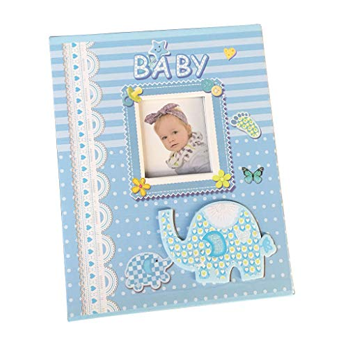 Formemory Premium Baby Book Memory Journal, Children s Scrapbook Album Photo Album for Boys or Girls Shower Gift Blue