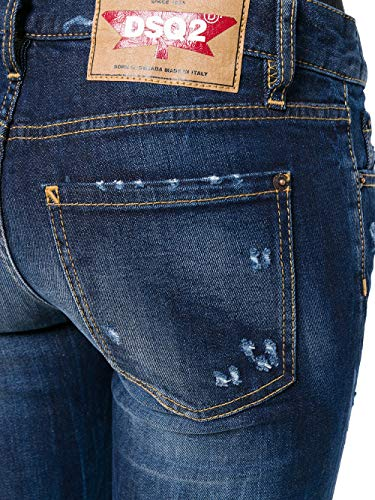 Femme Bleu Dsquared2 Jeans S72LB0159S30595470 Coton zHfwf