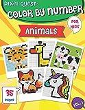 PIXEL QUEST COLOR BY NUMBER: Pixel Art Animals