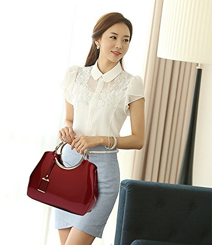 XCF rouge Shoulder Bags Atmosphérique Handbag Mouchoir Nuptiale Bag Messenger Sauvage Mariage Femmes Trend WLQ Vin Fashion Personnalité raUwrqx