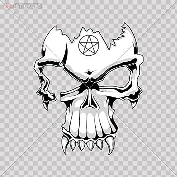HiroKun Funny Dirt Bike Helmet Stickers Skull Motorcycle Biker Decals Skeleton for Hardhad Stickers on Snowboard 50Pcs