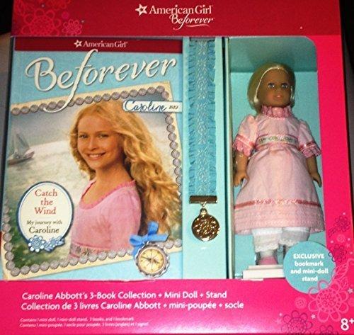American Girl Doll Beforever Caroline Abbott Mini Doll & 3 book Collection (American Girl Caroline Mini Doll)