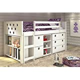 Twin Circles Modular Low Loft Bed in White