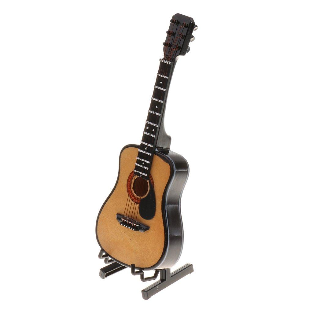 MagiDeal Escala 1/6 Instrumento Musical en Miniatura para 12 Pulgadas Figuras de Acción - Guitarra: Amazon.es: Juguetes y juegos