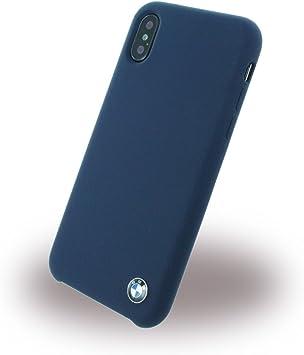 BMW Cuir véritable Coque Rigide Cell pour Apple iPhone X – Bleu