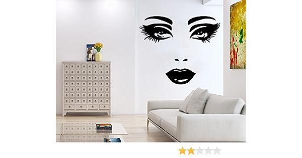 Woman Eye Wall Sticker Art Romantic Lash Face Girl Eyelash Removable Decor 1 X