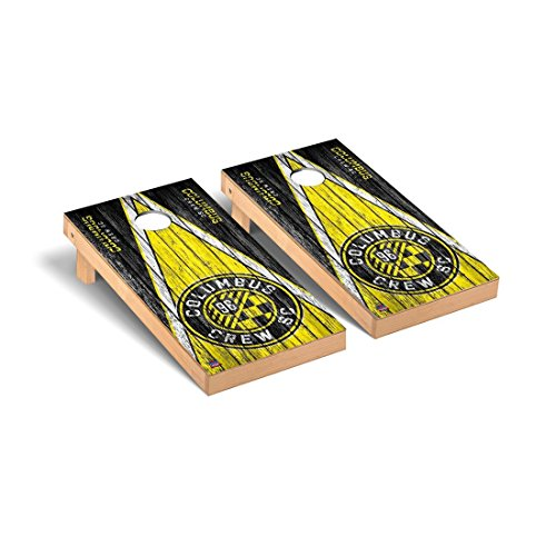 Columbus Crew MLS Soccer Regulation Cornhole Game Set Triangle Weathered Version by Victory Tailgate