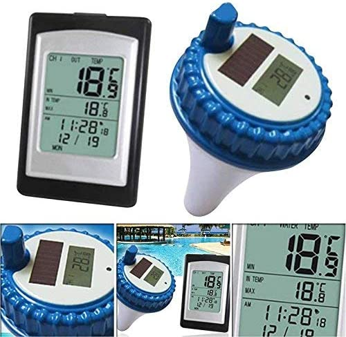 Guajave Kabellos Solarbetrieben Pool Thermometer Digital Schwimmbad Spa Schwimmende Thermometer