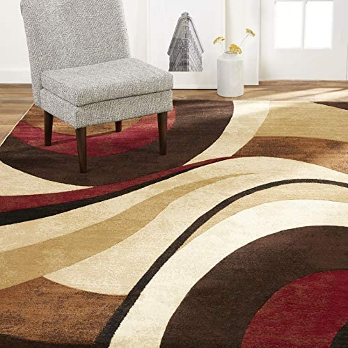 Home Dynamix Tribeca Slade Modern Area Rug Abstract Brown Red 39 X55 Furniture Decor Amazon Com