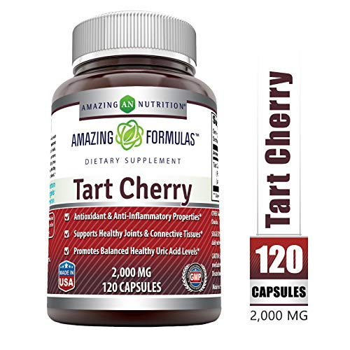 Amazing Formulas Tart Cherry Extract 2000 mg 120 Capsules (Non-GMO) *Anitoxidant & Anti-Inflammatory Properties *Supports Healthy Joints & Connective Tissues *Promote Balanced Healthy Uric Acid