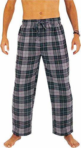 Windowpane Plaid Pant (NORTY Mens Cotton Windowpane Plaid Flannel Sleep Pajama Pant, Charcoal, Blue, Black 39980-Medium)