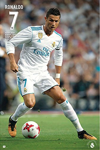 Real Madrid - Soccer / Sport Poster (Cristiano Ronaldo - In Action 2 - Season 2017 / 2018) (Size: 24