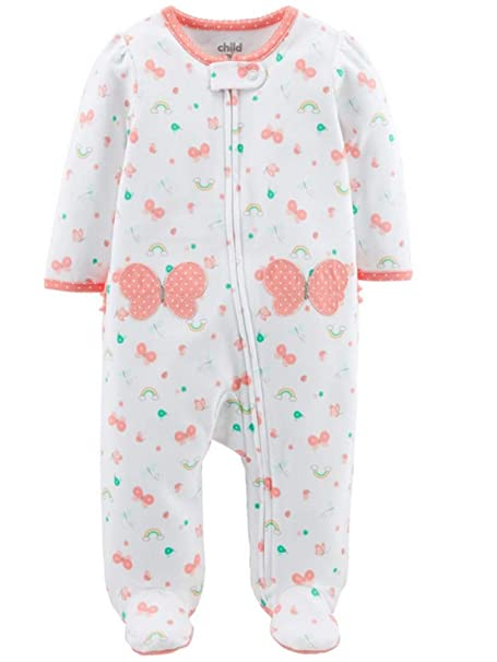 d148e5aa5 Image Unavailable. Image not available for. Color: Child of Mine by Carter's  Baby Girls Sleeper Sleep N Play Pajamas (Newborn) White