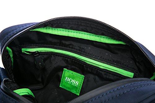 BOSS Green - Bolso al hombro para hombre azul marino