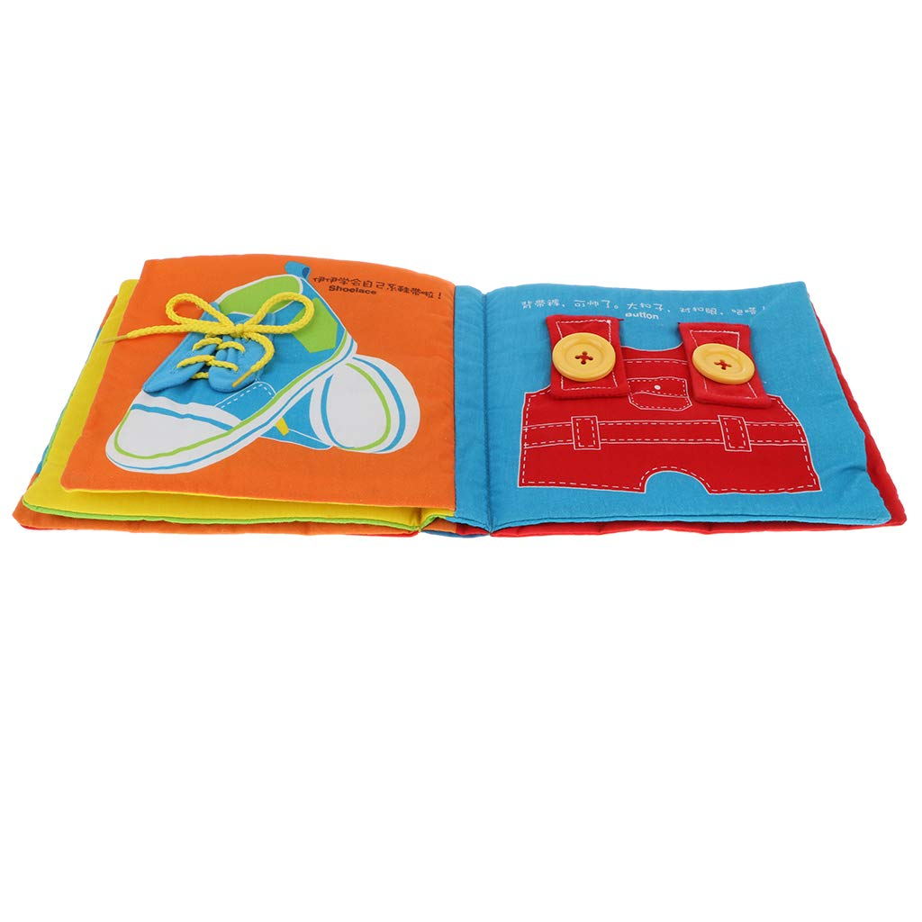 B Blesiya Livre en Tissu B/éb/é Jeu Montessori Enseignement Comp/étences Vie de Base