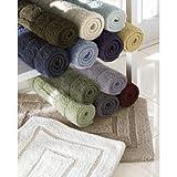 Kassatex 100-Percent Egyptian Cotton Kassa Design Bath Rug, 20 by 32-Inch, Celery