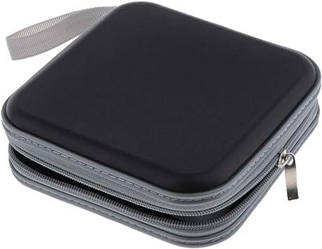 perfk Estuche Porta CD para 40 CD/DVD/BLU-Rays, Portafolios para Guardar CD: Amazon.es: Electrónica