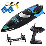 SGILE Remote Control Boat, 25 KM/H RC Racing Boat with 2 Free Batteries