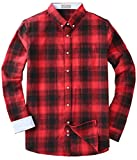 Mens Flannel Long Sleeve Plaid Button Down Western Shirts