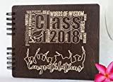 Graduation Guest Book Made in USA Wooden Rustic Graduation Gifts Photo Album Party Supplies Decorations Polaroid Photo Guest Book (NOT Customized)