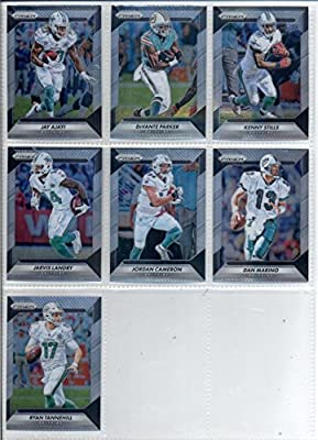 2016 Panini Prizm Football Miami Dolphins Team Set of 7 Cards in a Sealed Bag: Dan Marino(#135), Ryan Tannehill(#150), Jay Ajayi(#160), DeVante Parker(#170), Kenny Stills(#180), Jarvis Landry(#190), Jordan Cameron(#200)