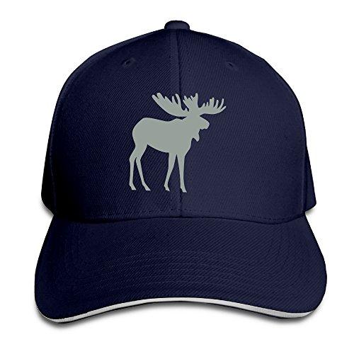 Moose Stag Or Raindeer Pattern Sports Caps Sandwich Peaked (Raindeer Hats)
