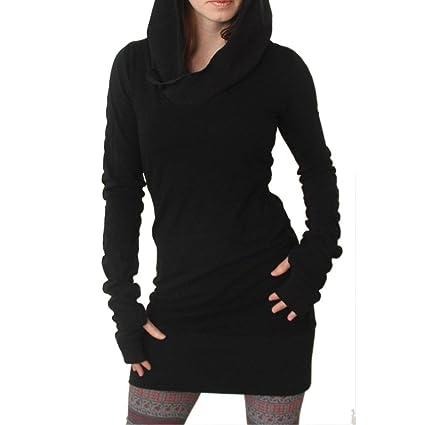 ca12fef8867a6 Clearance Sale! Women Hoodies Dress,Canserin Women Autumn Winter Long  Sleeve Hoodies Pure Color
