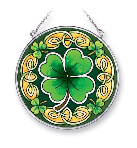Medium Celtic Circle - Amia 41401 Celtic Leaves 4-1/2-Inch Circle Sun Catcher, Medium