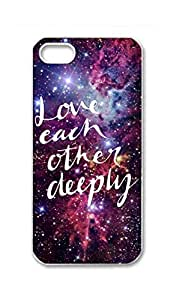 RainbowSky iPhone 5S 5 5G Case - Above All Love Each Other Deeply , 1 Peter 4 8 Hard Plastic Back Protection Phone Case Cover -1153