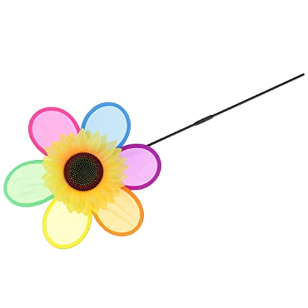 AmWISH 1 PC Sunflower Windmill Pinwheel Beach Party Game Toy Yard Lawn Decoration Accessories