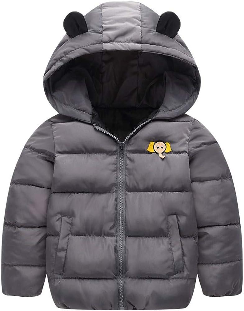 Lurryly❤Baby Girls Boys Kids Winter Warm Coat Cloak Thick Jacket Hoodies Hooded Outerwear 3-7T