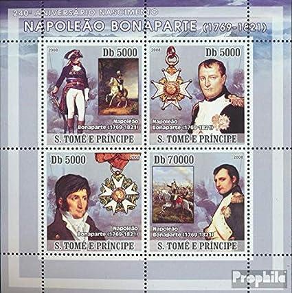 Prophila Collection Sao Tome e príncipe 3262-3265 Sheetlet (Completa.edición.) 2008 napoleón Bonaparte (Sellos para los coleccionistas) Caballos