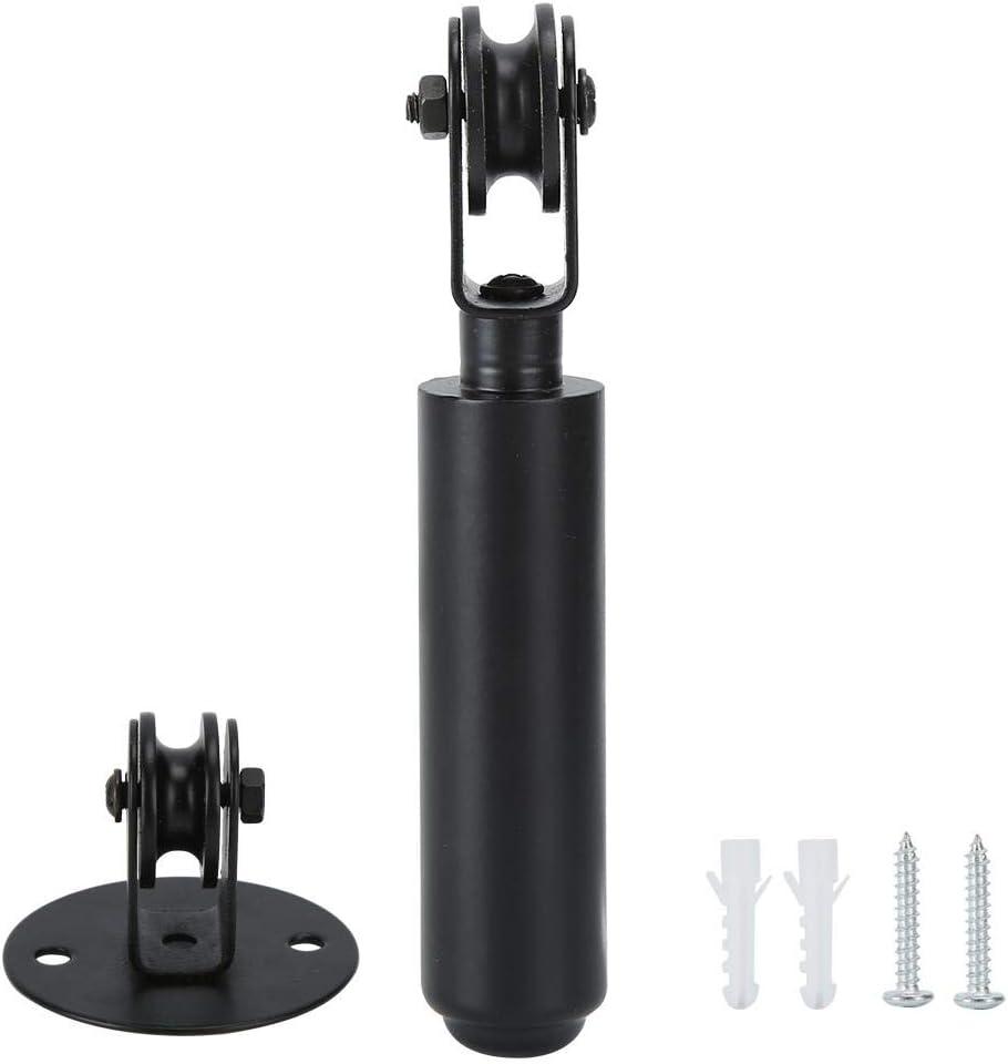 Fdit Polea de araña Polea Negra montada en la Pared para lámparas Colgantes Polea Rodamiento de Varilla Accesorios de iluminación de Repuesto