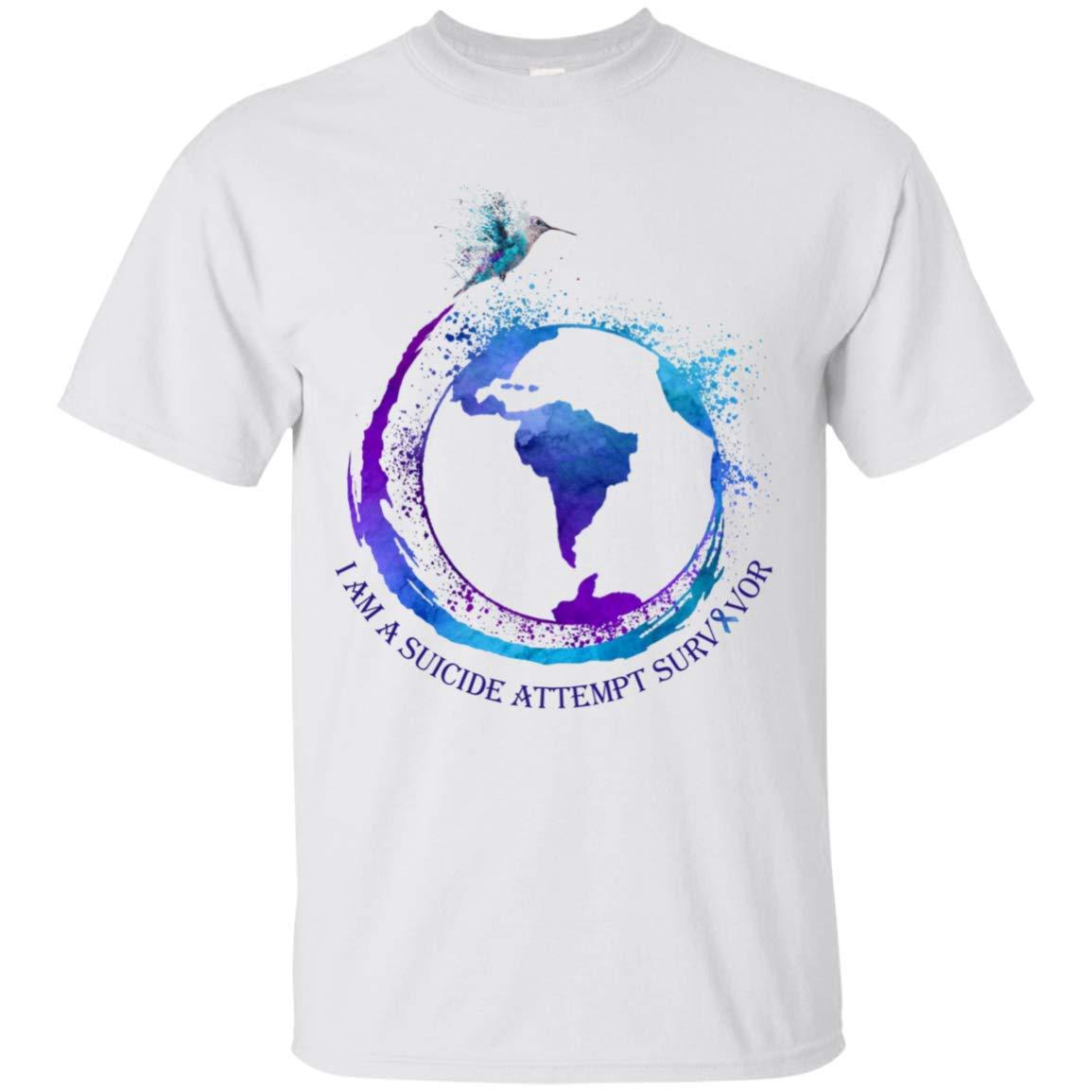 Mktee I Am A Suicide Attempt Survivor Suicide Awareness Tshirt For S 5056