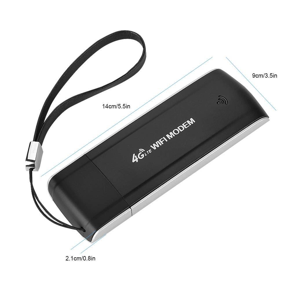 Banda: FDD: B1 // B3 // B5 Eboxer WiFi 4G Tarjeta de Red Inal/ámbrica de M/ódem Adaptador USB Port/átil