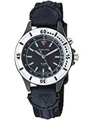 Dakota Womens Quartz Stainless Steel and Leather Watch, Color:Black (Model: 27278)